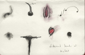 different kinds of holes (2015). Graphite, watercolor pencil, moleskine.
